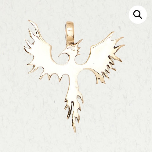 Bronze Phoenix Rising Pendant