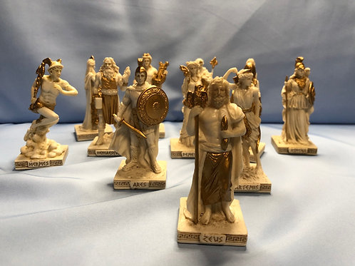 Greek Gods Mini Statues Set of 12