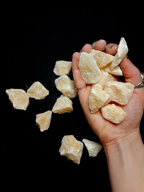 Calcite (orange, tumbled)
