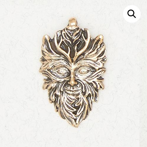Bronze Greenman Pendant