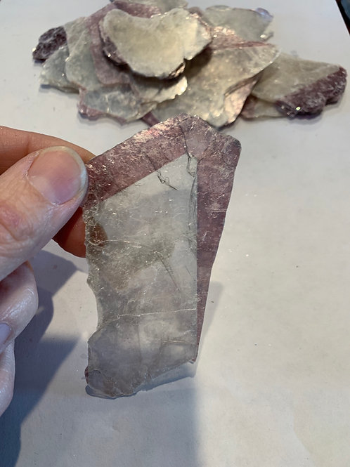 Lepidolite and Mica Thin Sheets