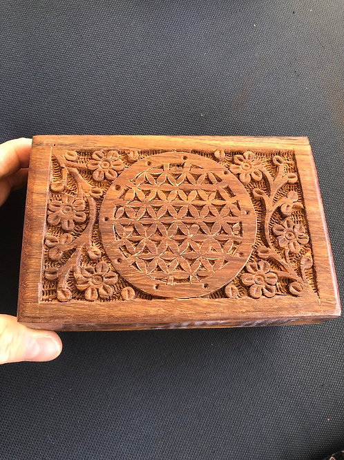 Wood Box (flower of life)