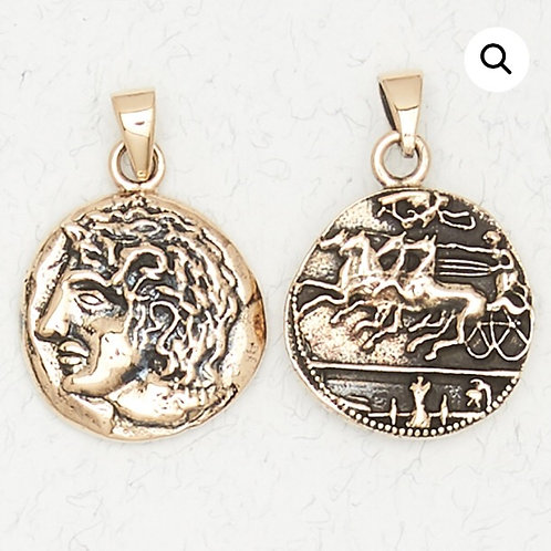 Bronze Apollo Pendant