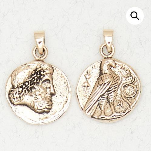 Bronze Zeus Pendant