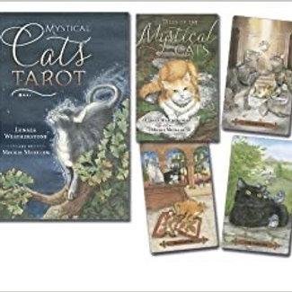 Mysical Cats Tarot Book & Deck Set