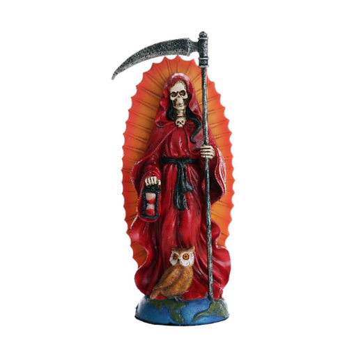 Santa Muerte Red Statue