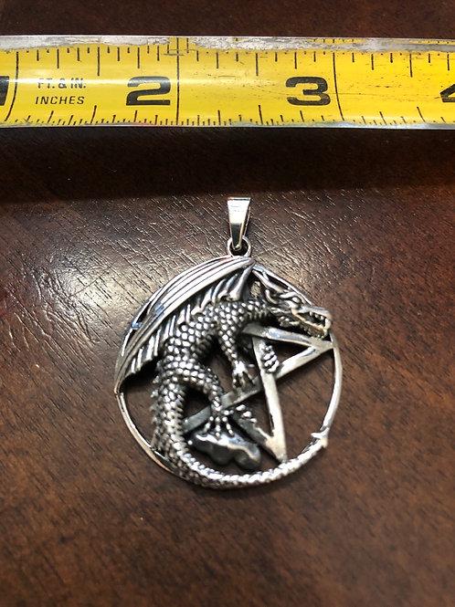 Dragon Pentagram Pendant SOP346