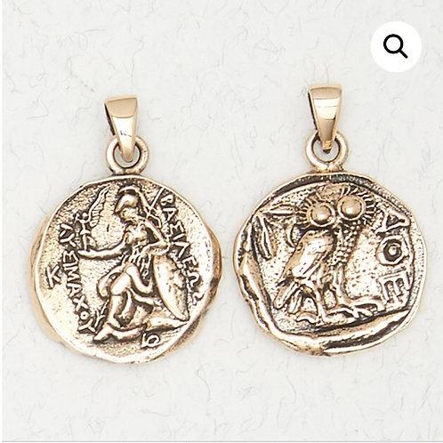 Bronze Athena Pendant