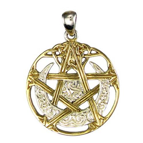 Gold & Silver Pentagram Pendant