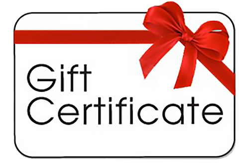 Gift Certificate ($10 & up)