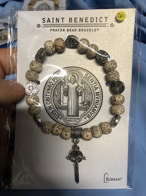 Saint Benedict Prayer Bead Bracelet