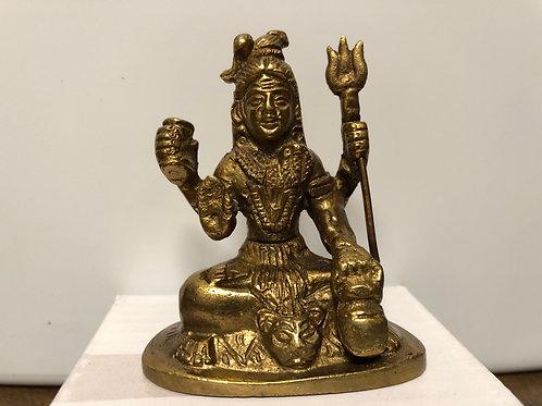Shiva Bronze Mini Statue