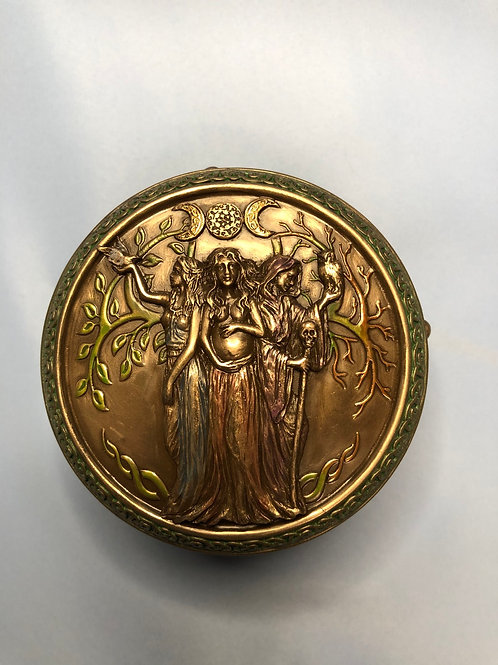 Maiden Mother Crone Trinket Box