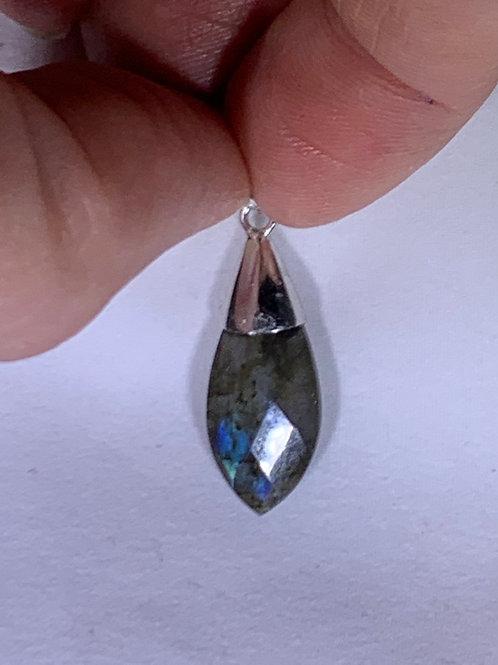 Labradorite Pendant, Faceted Drop (LF3)