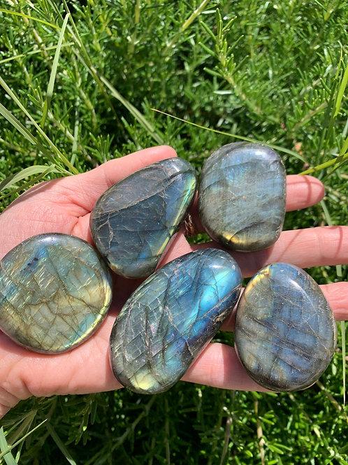 Labradorite Polished Palm Stones