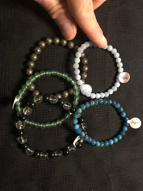 Gemstone Bracelets (medium beads)