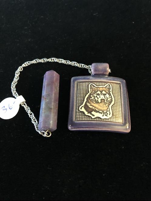 Pendulum (Lepidolite/Wolf)