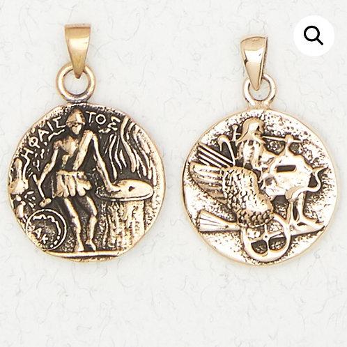 Bronze Hephaestus Pendant