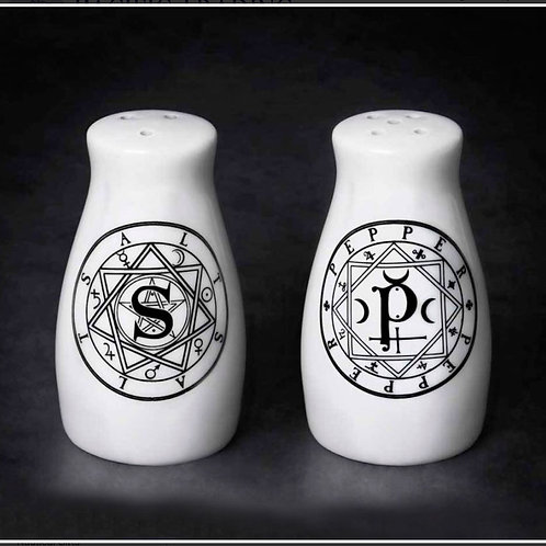 Sacred Geometry Salt & Pepper Shakers