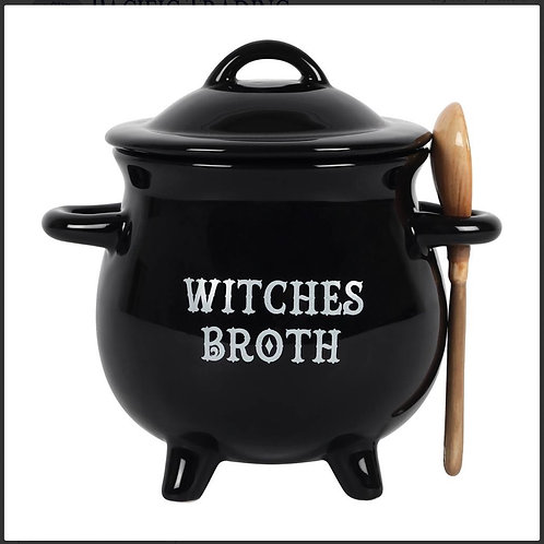 Witches Broth Cauldron Bowl and Spoon