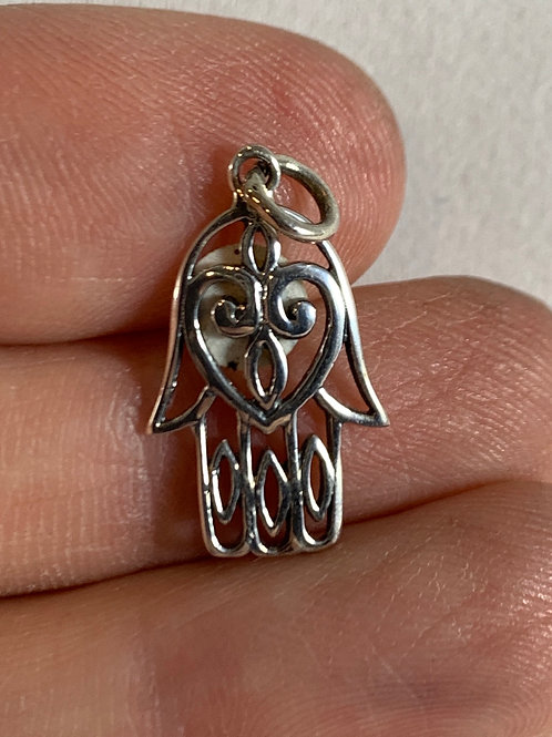 Hamsa Pendant (small, sterling silver)