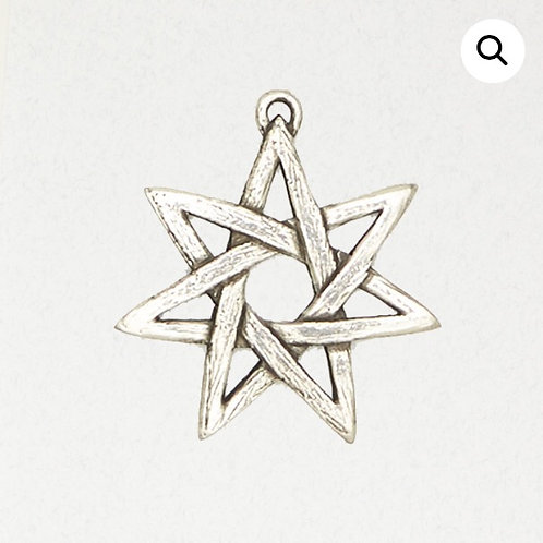 7 (seven) Pointed Star (heptagram) Pendant