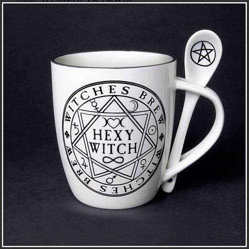 Hexy Witch Brew Mug & Spoon
