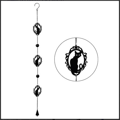 Black Cat Wind Chime