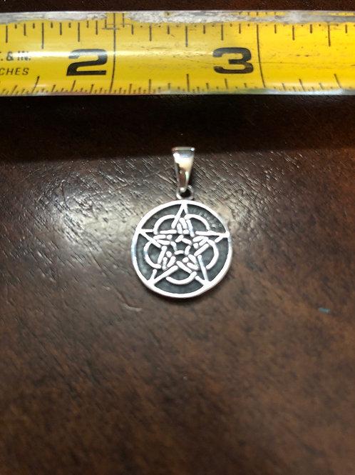 Pentagram Pendant w/design PTPG120