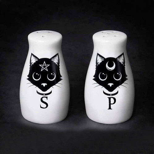 Witchy Cats Salt & Pepper Shakers