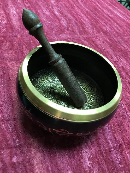 Singing Bowl Black & Gold