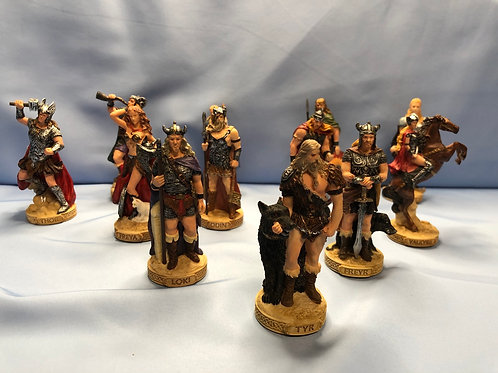 Norse Deities Set of 12 Mini Statues