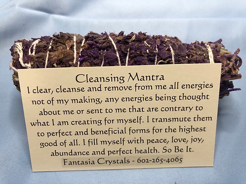 Blue Sage & Lavender Smudge