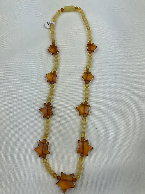 Baltic Amber Star Necklace