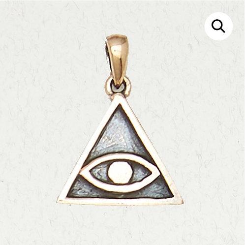 Bronze All Seeing Eye Pendant