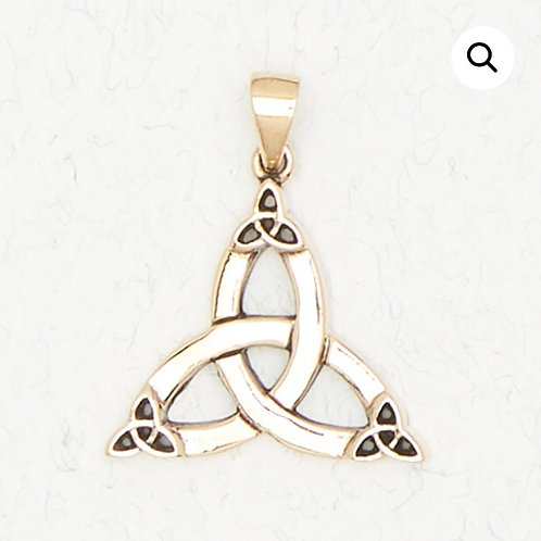 Triquetra Trinity Knot Pendant Sterling Silver