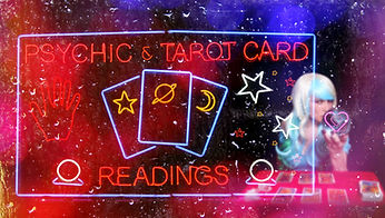 Psychic and Tarot Card Readings Sign wit