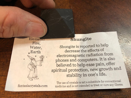"Shungite Pyramid 1 1/4"""