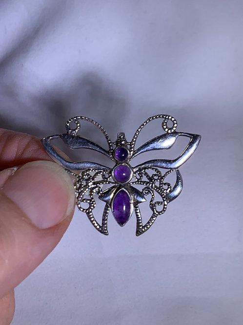 Amethyst Pendant, Butterfly (AQ7)
