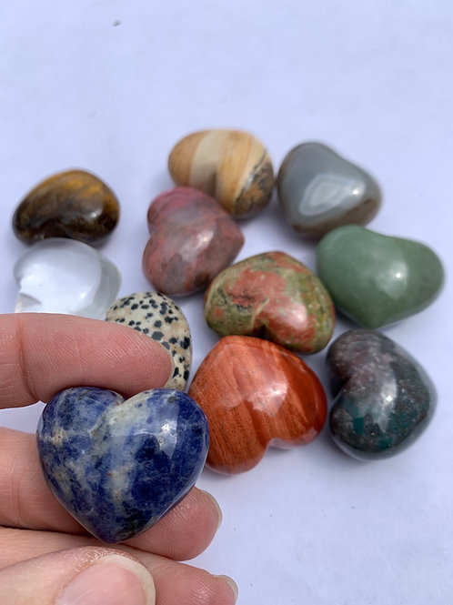 Heart (assorted natural gemstones)