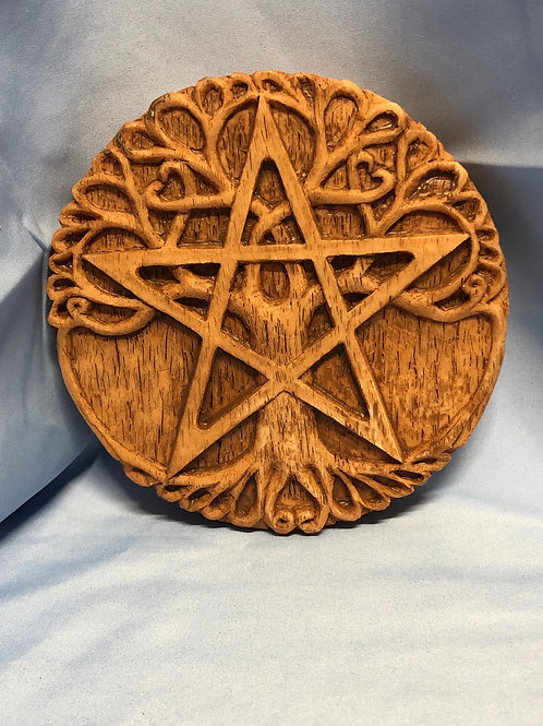 Tree Pentacle Wall Plaque