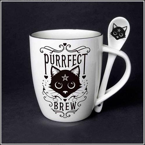 Purrfect Brew Mug & Spoon