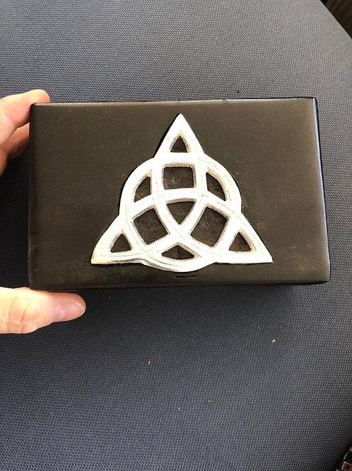 Wood Box w/ Metal Triquetra