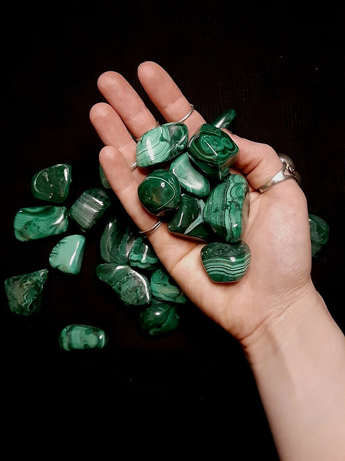 Malachite (larger, tumbled)
