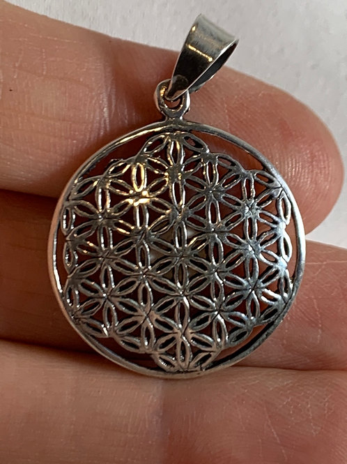 Flower of Life Pendant (sterling silver)