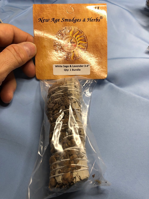 White Sage & Lavender packaged smudge bundle