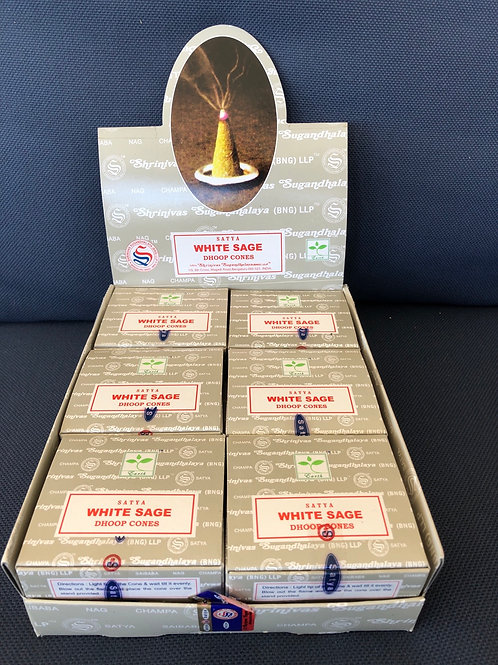 White Sage Incense Cones (Satya)
