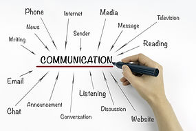 Hand with marker writing communication c