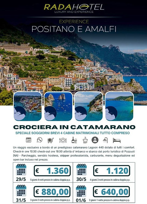 Croceria in Catamarano - Positano e Amalfi