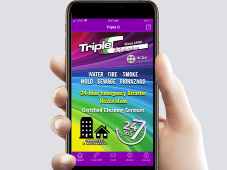 Emergency response only 2-clicks away with new Triple C Restoration mobile app!
